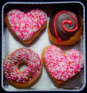 Heart Shaped Doughnuts by Liliane Blom